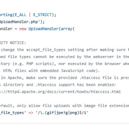 Unauthenticated arbitrary file upload vulnerability in Blueimp jQuery-File-Upload <= v9.22.0