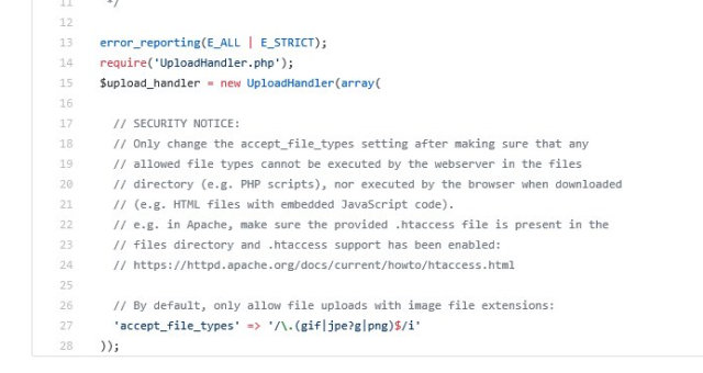 Unauthenticated arbitrary file upload vulnerability in Blueimp